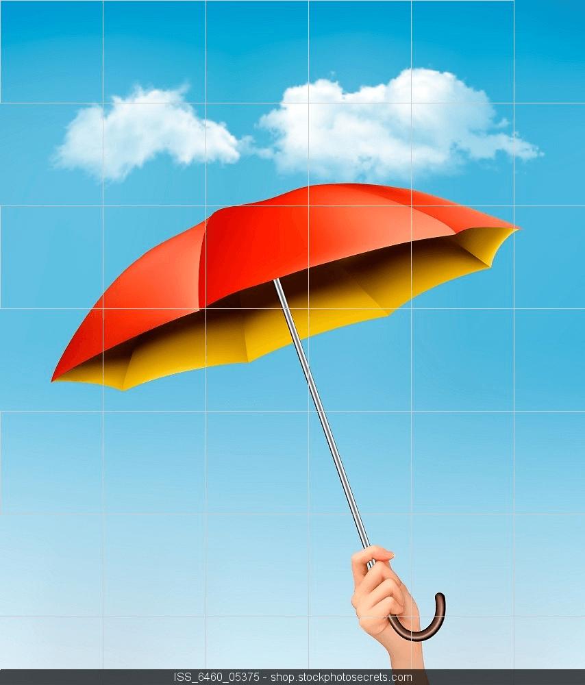 Los seguros multirriesgo y sus ventajas. Paraguas abiertp